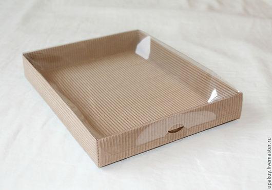 Упаковка ручной работы. Ярмарка Мастеров - ручная работа. Купить упаковка с прозрачной крышкой. Handmade. Коричневый, коробка с окошком