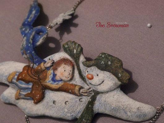 """Колье, бусы ручной работы. Ярмарка Мастеров - ручная работа. Купить Колье в винтажном стиле """"Снеговик"""" по мотивам книги Р.Бриггса. Handmade."""