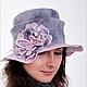 Fedoras & formal hats handmade. Livemaster - handmade. Buy Hat for lady.Handmade, floral, 100% wool Merinos