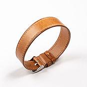 Украшения handmade. Livemaster - original item Solid whiskey-colored genuine leather strap. Handmade.