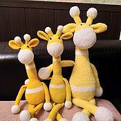 Мягкие игрушки ручной работы. Ярмарка Мастеров - ручная работа Мягкие игрушки: прикольные жирафы. Handmade.