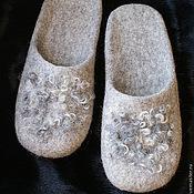 """Обувь ручной работы. Ярмарка Мастеров - ручная работа Тапки мужские """"40 тысяч лет до н.э"""". Handmade."""