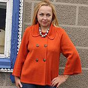 "Одежда handmade. Livemaster - original item Knitted jacket ""Colors of autumn - terracotta"". Handmade."