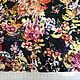 Шитье ручной работы. Штапель цветы на темно-синем BT 9035122 Цена за метр. Ткани Fashion Fabric (fashion-fabric). Ярмарка Мастеров.