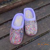 """Обувь ручной работы. Ярмарка Мастеров - ручная работа Тапочки """"Разноцветные"""". Handmade."""