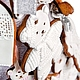 """Кулинарные сувениры ручной работы. Заказать Пряничная ёлочка  """"Белоснежная"""" интерьерная. Наташа Русак АРХАНГЕЛЬСКИЕ ПРЯНИКИ (pryaniki). Ярмарка Мастеров."""