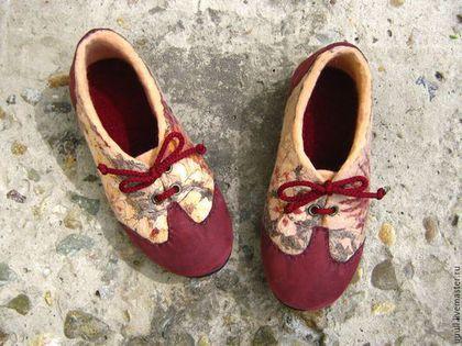 Обувь ручной работы. Ярмарка Мастеров - ручная работа. Купить Туфли с шёлковым верхом, готовые пары 33 и 37 размера.. Handmade.