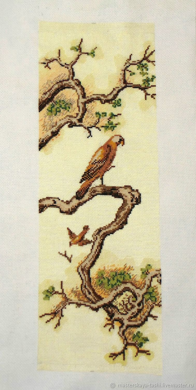 Falcon. Chinese motifs. Picture.Embroidery certicom, Pictures, Tolyatti,  Фото №1