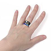 Украшения handmade. Livemaster - original item Ring Abstract landscape. Natural stones. Ring handmade. Handmade.
