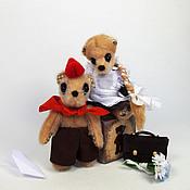 Куклы и игрушки ручной работы. Ярмарка Мастеров - ручная работа Мишки - школьники Паша и Глаша (9 см). Handmade.