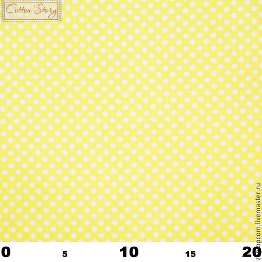 Шитье ручной работы. Ярмарка Мастеров - ручная работа. Купить 0034 Сатин Горох 4 мм на желтом. Handmade. Саржа