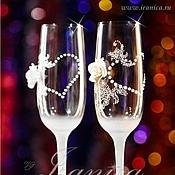 """Свадебный салон ручной работы. Ярмарка Мастеров - ручная работа Свадебные бокалы """"Flirt"""". Handmade."""
