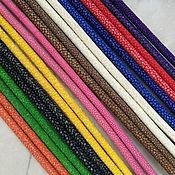 Материалы для творчества handmade. Livemaster - original item Cords made of genuine, polished stingray leather, custom made!. Handmade.