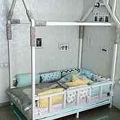 Для дома и интерьера ручной работы. Ярмарка Мастеров - ручная работа Бортики подушки в детскую кроватку. Handmade.