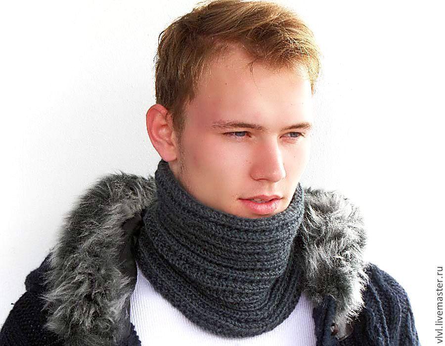 Мужской шарф снуд вязать своими руками