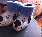 """Обувь ручной работы. Ярмарка Мастеров - ручная работа Валенки  детские """"Собаки-Улыбаки"""". Handmade."""