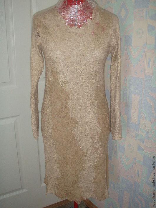 Платья ручной работы. Ярмарка Мастеров - ручная работа. Купить Платье из шерсти Латтэ. Handmade. Войлок, Валяние, нуно-войлок