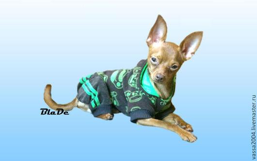 Одежда для собак, ручной работы. Ярмарка Мастеров - ручная работа. Купить Теплый комбинезон для собаки. Handmade. Зеленый, теплый, рибана