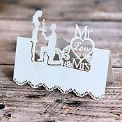 Карточки ручной работы. Ярмарка Мастеров - ручная работа Карточка на стол, карточка на бокал, свадебные приглашения. Handmade.