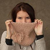 """Аксессуары handmade. Livemaster - original item Снуд """"Мокко"""" шарф хомут. Handmade."""