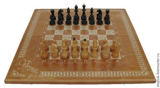 Настольные игры ручной работы. Ярмарка Мастеров - ручная работа. Купить Шахматы, нарды, шашки Водолей (тёмные) 7054. Handmade.