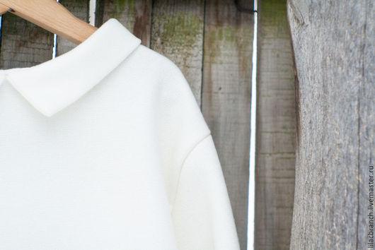 """Кофты и свитера ручной работы. Ярмарка Мастеров - ручная работа. Купить Пуловер""""Белый"""". Handmade. Белый, пуловер шитый, кофта, однотонный"""