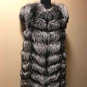 Одежда ручной работы. Ярмарка Мастеров - ручная работа Жилет из чернобурки 90 см. длина. Handmade.
