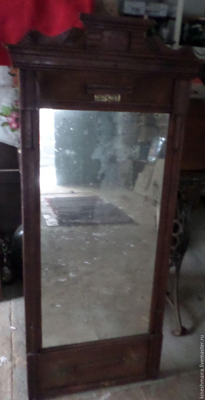 Винтаж: Старинное деревенское зеркало, Винтажные предметы интерьера, Кинешма, Фото №1