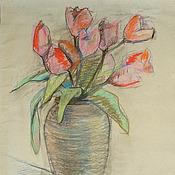 Картины и панно handmade. Livemaster - original item Picture. Tulips. Handmade.