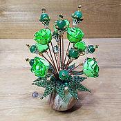 Цветы и флористика handmade. Livemaster - original item BOUQUETS: Jade flowers