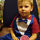 Нарядный фартук с манишкой и бабочкой. Прекрасно подойдет как в подарок так и для праздничного мероприятия и детских мастер-классов.