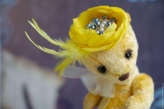 Мишки Тедди ручной работы. Ярмарка Мастеров - ручная работа. Купить Тедди мишка Мадемуазель. Handmade. Желтый, мишка
