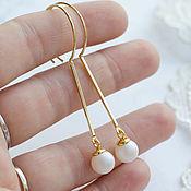 Украшения handmade. Livemaster - original item Earrings Little pearl. Handmade.