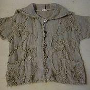 Одежда handmade. Livemaster - original item Jacket linen hooded. Handmade.