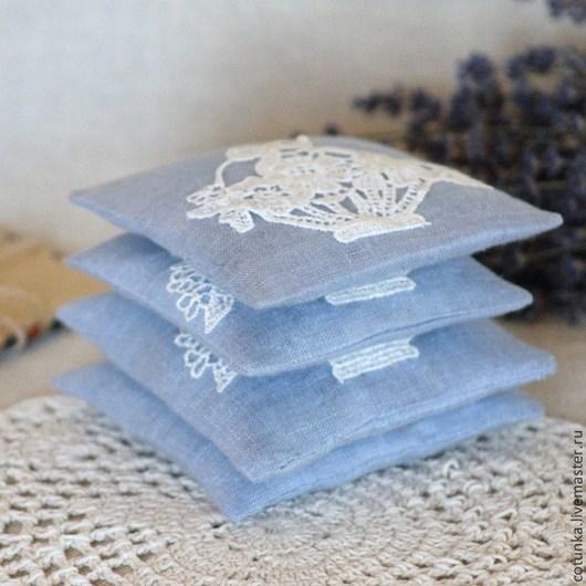 """Релаксация, ароматерапия ручной работы. Ярмарка Мастеров - ручная работа. Купить Ароматические саше """"Gracieux""""  с травами ( саше из льна). Handmade."""