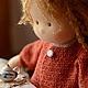 Вальдорфская игрушка ручной работы. Ярмарка Мастеров - ручная работа. Купить Надюша, 40см. Handmade. Рыжий, текстильная кукла, вискоза