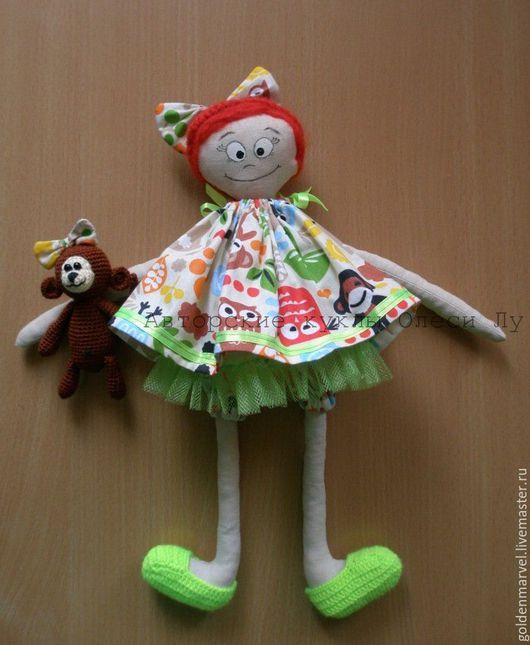 Коллекционные куклы ручной работы. Ярмарка Мастеров - ручная работа. Купить Авторская текстильная кукла Анфиса и Коко. Handmade. Комбинированный