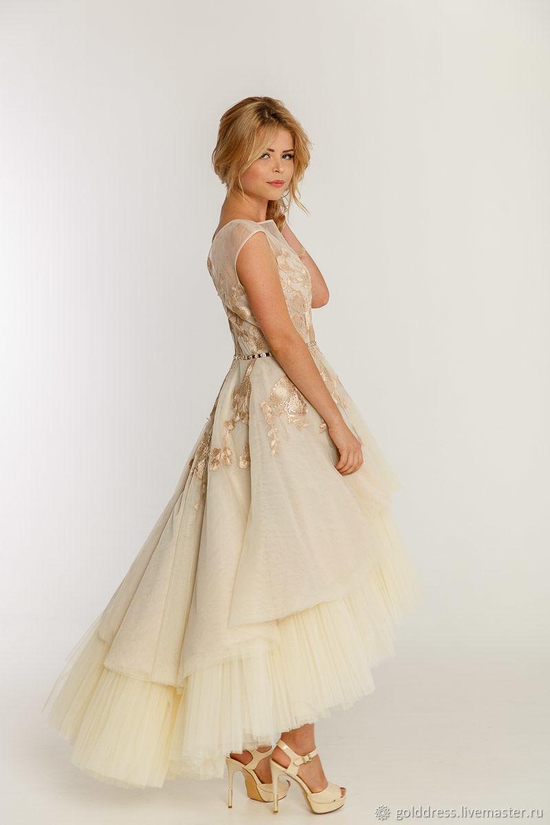 486bfe7af70b6 Золотисто-бежевое платье-трансформер. Вечерние платья Golddress. Интернет-