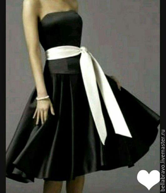 Платья ручной работы. Ярмарка Мастеров - ручная работа. Купить Черный тюльпан платье коктельное. Handmade. Тёмно-бирюзовый