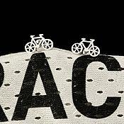 Украшения ручной работы. Ярмарка Мастеров - ручная работа Серьги «Велосипеды». Handmade.