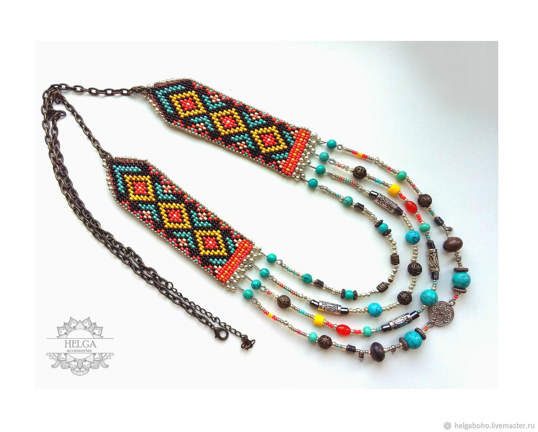 Boho Indian necklace, Necklace, Lobnya,  Фото №1