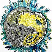 Картины и панно ручной работы. Ярмарка Мастеров - ручная работа Картина со слоном! (Космослон). Handmade.