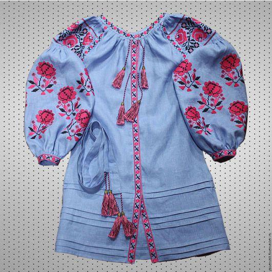 Платья ручной работы. Ярмарка Мастеров - ручная работа. Купить Льняное мини платье Размер XS - XXXL. Handmade. Платье