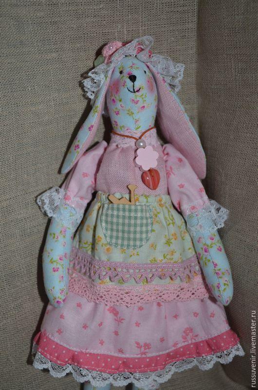 Куклы Тильды ручной работы. Ярмарка Мастеров - ручная работа. Купить Заяц Цветочный. Handmade. Голубой, заяц тильда