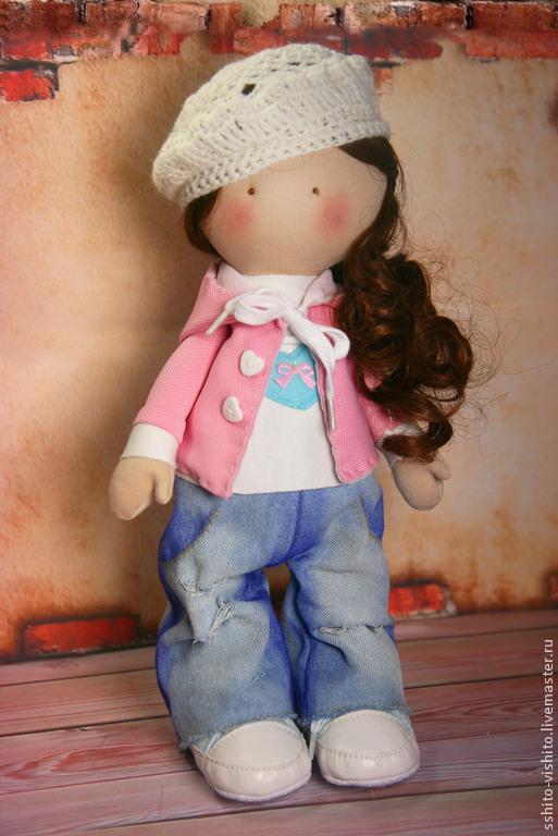 """Куклы и игрушки ручной работы. Ярмарка Мастеров - ручная работа. Купить Набор для шитья """"Кукла Женечка"""". Handmade. Голубой"""