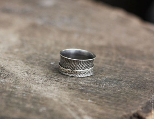 """Кольца ручной работы. Ярмарка Мастеров - ручная работа. Купить кольцо """"Движение девятое"""", серебро. Handmade. Серебряный, кольцо из серебра"""