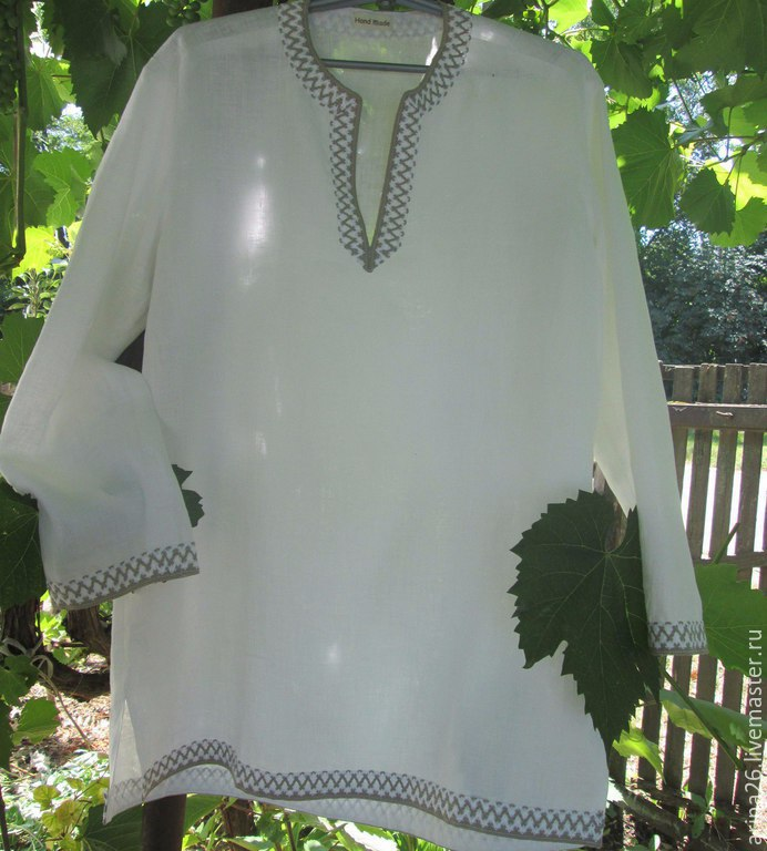 Рубаха мужская Пересвет. Выполнена из натурального льна, Этническая одежда, Изобильный, Фото №1