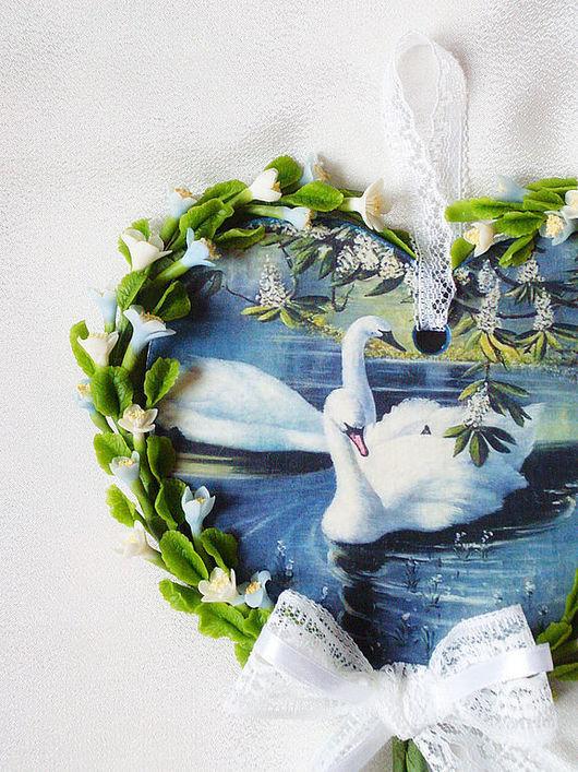 """Подарки для влюбленных ручной работы. Ярмарка Мастеров - ручная работа. Купить Сердце """"Лебединая верность"""". Handmade. Сердце, подарок для влюбленных"""