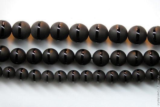 Для украшений ручной работы. Ярмарка Мастеров - ручная работа. Купить 12мм. Агат тонированный, черный, матовый. Handmade.