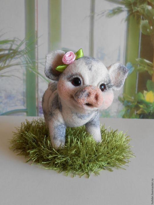 Игрушки животные, ручной работы. Ярмарка Мастеров - ручная работа. Купить свинка Мини-ПИГИ (карликовые свиньи). Handmade. Бежевый